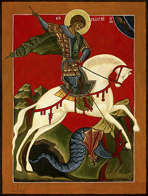 St George And The Dragon Poster by Raffaella Lunelli