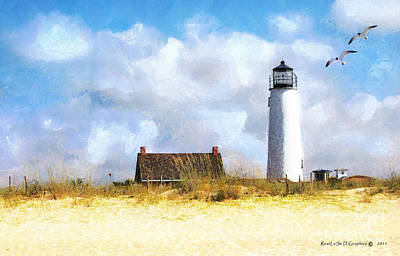 St. George Island Lighthouse Poster by Rhonda Strickland