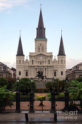 St Louis Cathedral On Jackson Square In The French Quarter New Orleans Poster