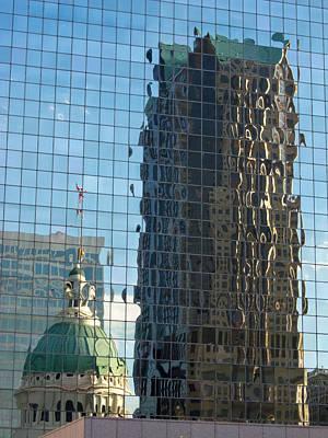 Poster featuring the photograph St. Louis Reflections by Nancy De Flon