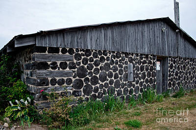 Poster featuring the photograph Stacked Block Barn by Barbara McMahon