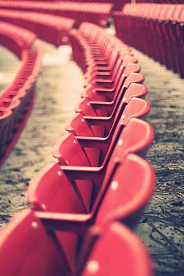 Stadium Seating Poster by Vinnie Finn