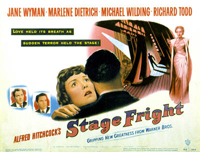 Stage Fright, Michael Wilding, Richard Poster