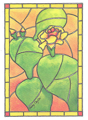 Stained Glass Prickly Pear Poster