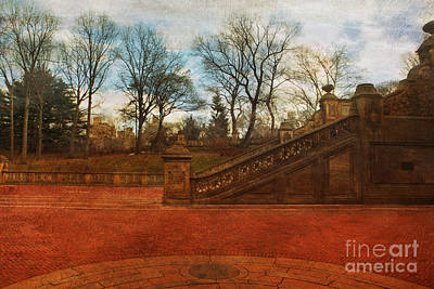 Stairway In Central Park Poster