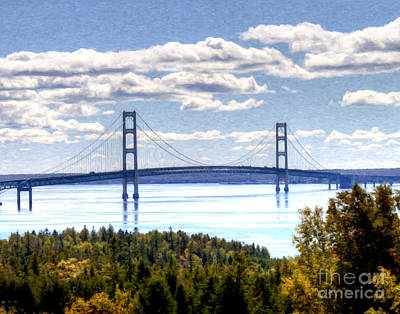 Staits Of Mackinac Poster