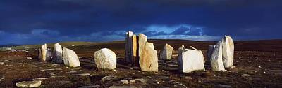 Standing Stones, Blacksod Point, Co Poster by The Irish Image Collection