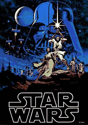 Star Wars Poster Poster by George Pedro