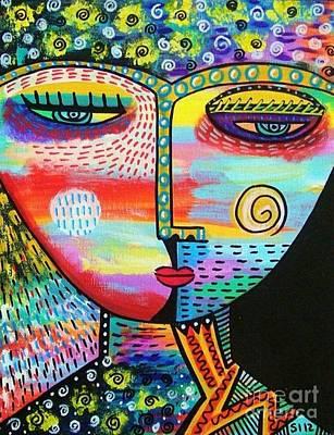 Starlight Goddess Poster by Sandra Silberzweig
