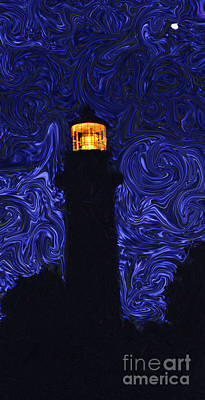 Poster featuring the photograph Starry Night Light by Linda Mesibov
