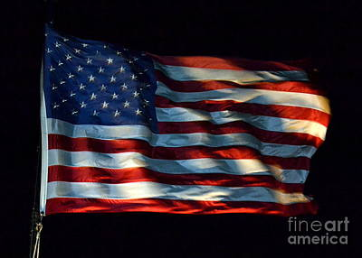 Stars And Stripes At Night Poster