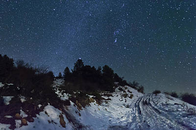 Stars In Sky At Night Poster