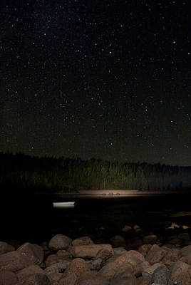 Poster featuring the photograph Stars Over Otter Cove by Brent L Ander