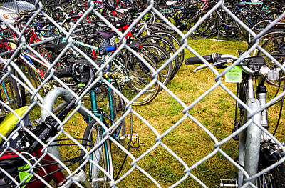 State Fair Bike Coral  Poster