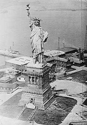 Statue Of Liberty Aerial View 1920 Poster