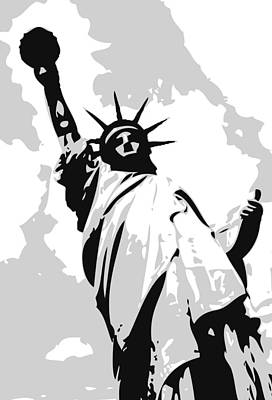 Statue Of Liberty Bw3 Poster