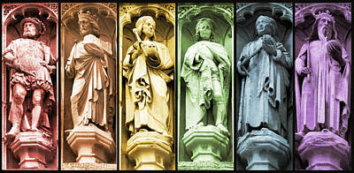 Statues Adorning St George's Cathedral Poster