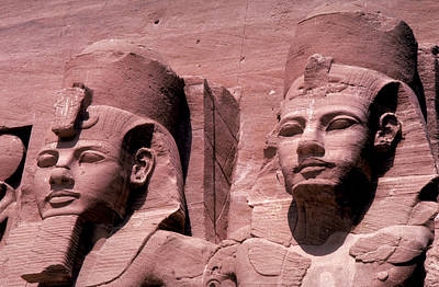 Statues Of Ramses II Poster by Carl Purcell