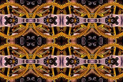 Steampunk Gears Poster by  Onyonet  Photo Studios