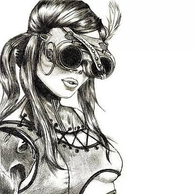 Steampunk Girl 1 Poster