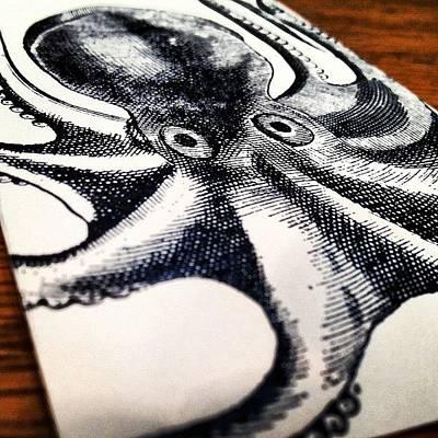 #steampunk #octopus #vintage Poster
