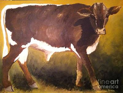 Poster featuring the painting Steer Calf by Vonda Lawson-Rosa