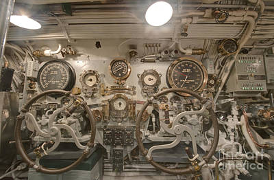 Steering Section On The Uss Bowfin Poster by Rob Tilley