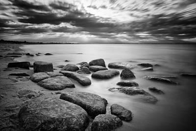Stepping Stones Iv Poster by Rick Berk