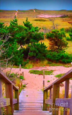 Poster featuring the photograph Steps - Surfside Beach by Jack Torcello