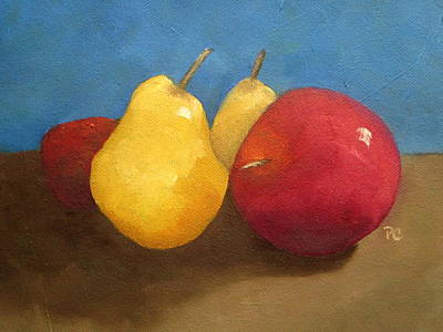Still Life Apples And Pears Poster