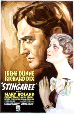 Stingaree, Richard Dix, Irene Dunne Poster