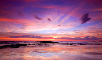 Poster featuring the photograph Stockton Beach Sunset by Paul Svensen