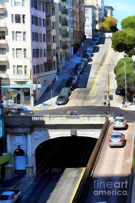 Stockton Street Tunnel In Hilly San Francisco . 7d7499 Poster