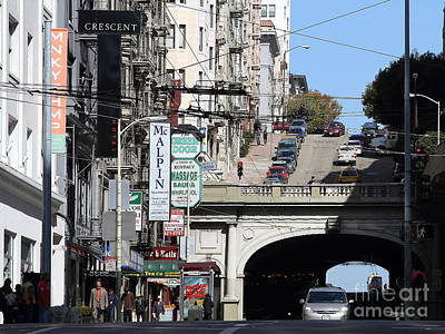 Stockton Street Tunnel San Francisco . 7d7355 Poster by Wingsdomain Art and Photography