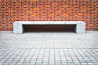 Stone Bench Poster by Tom Gowanlock