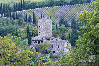 Stone Farmhouse Near Montefioralle Poster by Jeremy Woodhouse