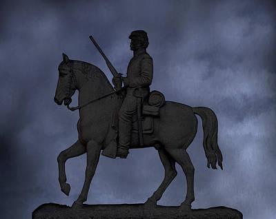 Stone Sentinel Gettysburg Battlefield Poster by Randy Steele