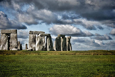 Stonehenge Landscape Poster by Heather Applegate