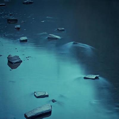 Stones In Flowing River Poster by Dirk Wüstenhagen Imagery
