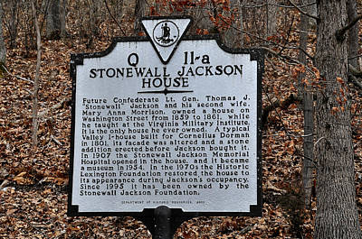 Stonewall Jackson House Poster by Todd Hostetter