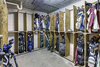 Storage Room For Golf Clubs Poster by Skip Nall