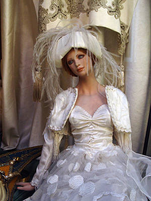 Store Window Bride Poster by Donna Lee Blais