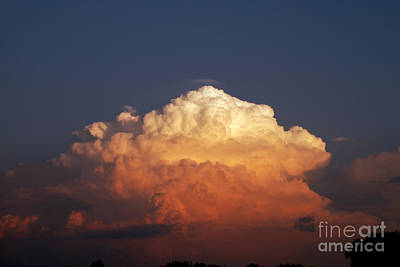 Poster featuring the photograph Storm Clouds At Sunset by Mark Dodd