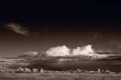 Storm Over Badlands Poster by Steve Gadomski