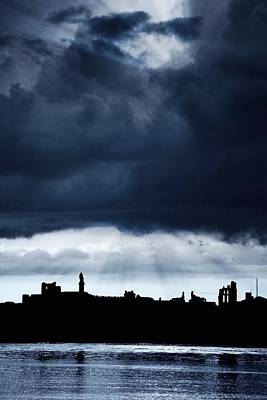 Storm Over City, Tyne And Wear, England Poster by John Short