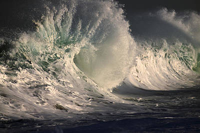 Stormy Wave Crash Poster by Vince Cavataio
