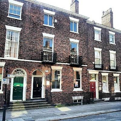 #street #houses #liverpool #buildings Poster