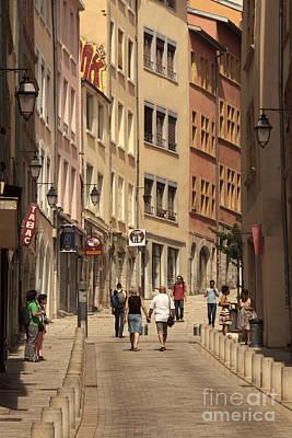 street in Lyon  Poster