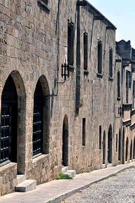 Street In The Medieval Fortress Of Rhodes. Poster