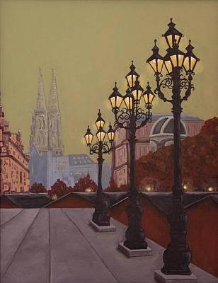 Street Lamps Poster by Jennifer Lynch